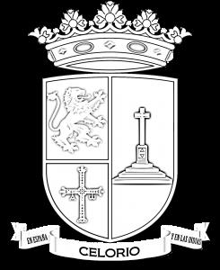Versión en blanco y negro del escudo de Celorio