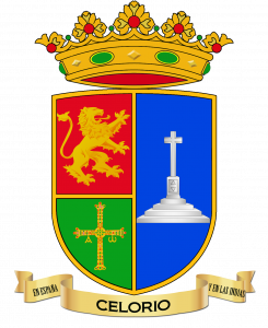 Escudo de Celorio con los bordes marcados