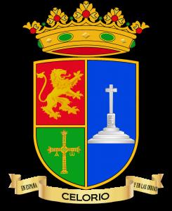 Escudo de Celorio con los bordes marcados