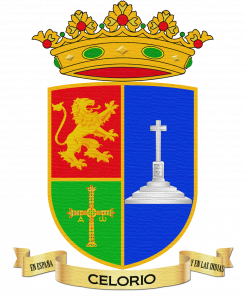 Escudo de Celorio con efecto textil