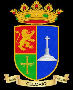 Escudo de Celorio con efecto textil