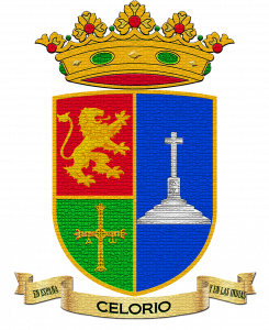 Escudo de Celorio con efecto vidriera