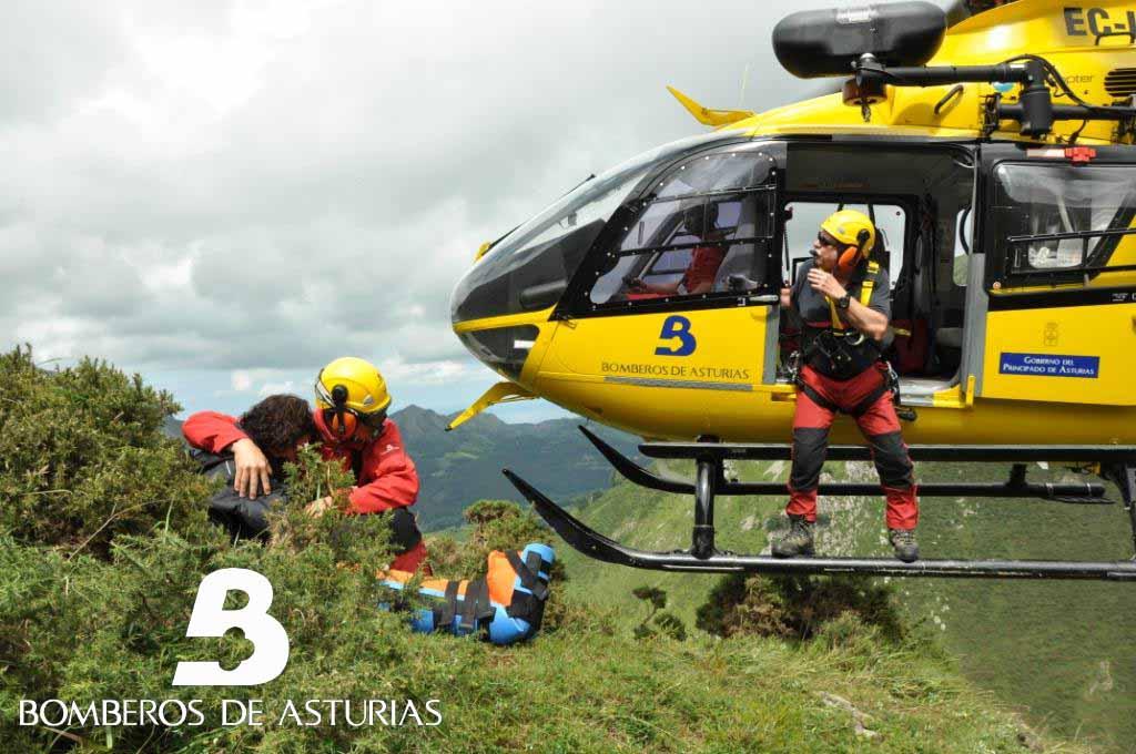 RESCATE MONTE HIBEO, LLANES - Bomberos de Asturias - Celoriu.com