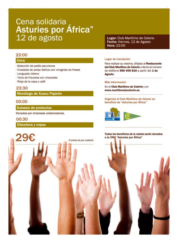 Cena solidaria con África en Celorio (Llanes) - Celoriu.com