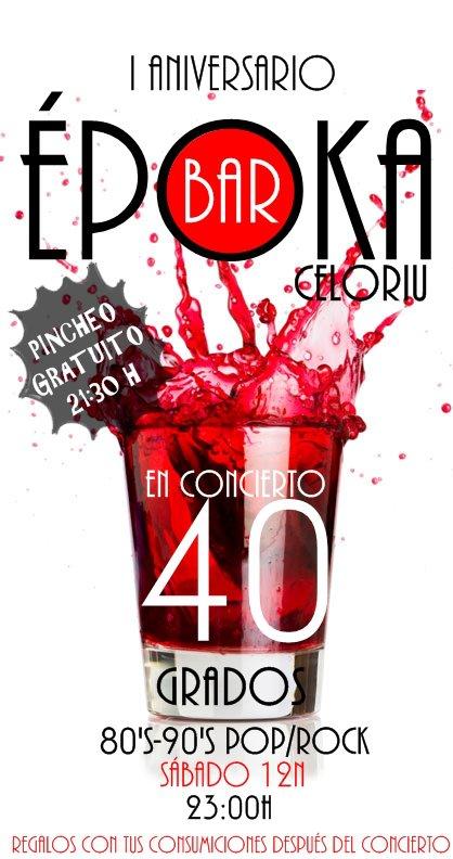 Cartel 1º Aniversario del Époka Bar - Celoriu.com