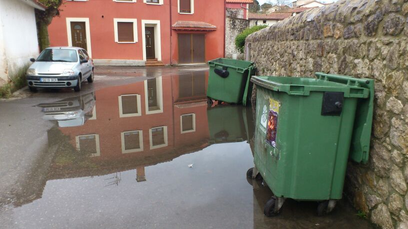 La zona inundada hace un par de días en Celorio a consecuencia de las lluvias - Celoriu.com