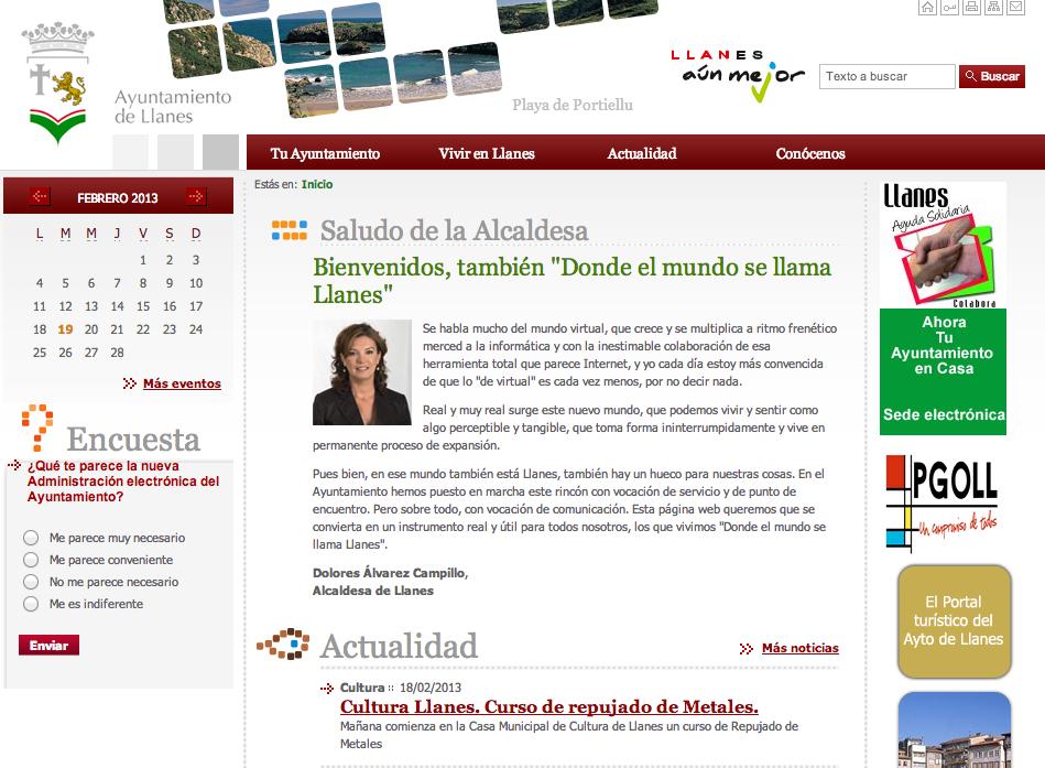 Web del Ayuntamiento de Llanes - Celoriu.com