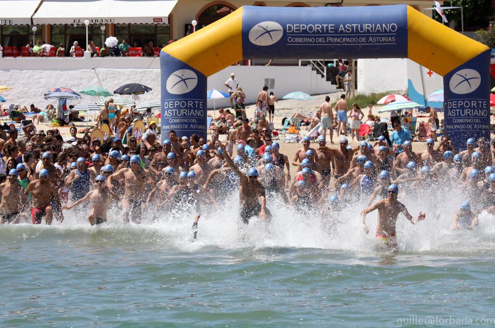 Travesía de natación Castros de Celorio, año 2010 - Celoriu.com