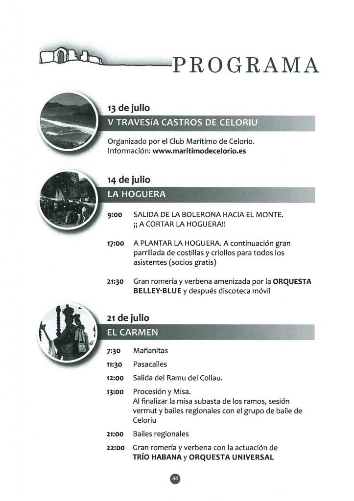 Programa de las fiestas de Celorio 2013 - Celoriu.com