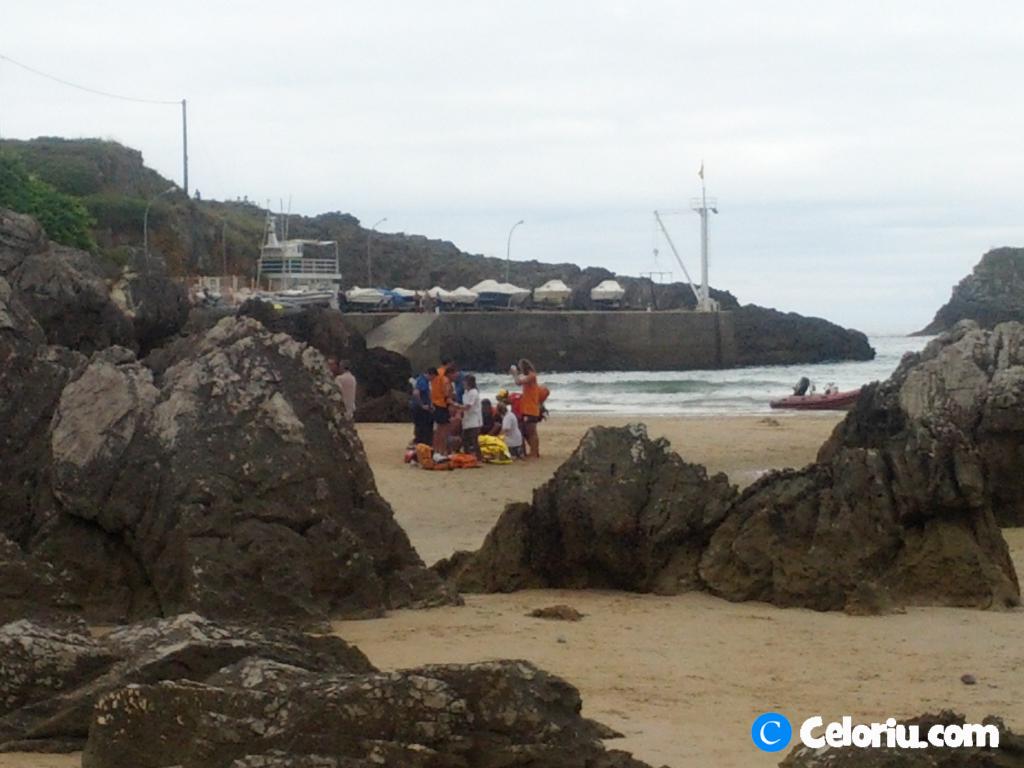 Infarto en la playa de Palombina de Celorio - Celoriu.com