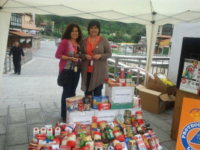 Llanes Ayuda Solidaria donación 400 kg Concentración V espas