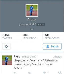 Tweet de Piero contra el C D Llanes - Celoriu.com